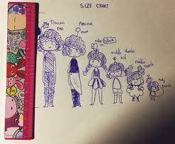 I Did This Doodle Its A Size Chart Of Em All Im Makin No