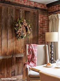 dining room country curtains. here, a barn door separates the kitchen and dining room. country curtains holiday wreath room