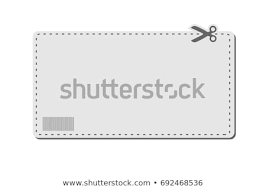 Dotted Line Template Blank Coupon Template Barcode Dotted Line Stock Vector Royalty Free