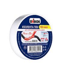 <b>Изолента</b> Unibob ПВХ белая 19 мм 20 м — купить в Петровиче в ...