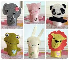adorable felt animal finger puppets