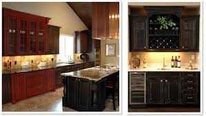 Painting Kitchen Cabinets Red Red Kitchen Cabinets With Black Glaze Quicuacom Design Porter