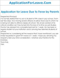 application for sick leave school parents resignation letter due ...