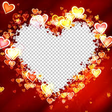 glowing hearts frame effect