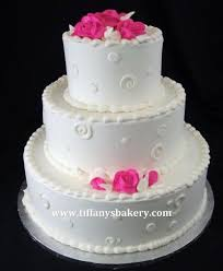 In The Pink Classic Wedding Cake Tiffanys Bakery