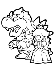 Zombie Bowser Colouring Pages Page 2 Kids Crafts Coloring