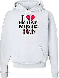 Amazon Com Tooloud I Love House Pink Hoodie Sweatshirt
