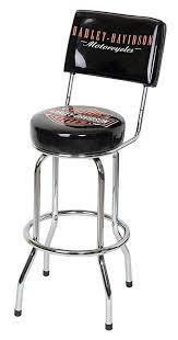 Bar stool with backrest Harley Davidson Image Unavailable Amazoncom Amazoncom Harleydavidson Bar Stool With Backrest Black Harley