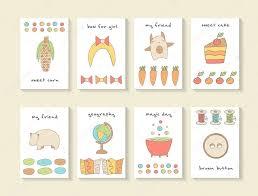 Cute Postcards Set Stock Vector Nadineveresk 99787848