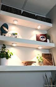 Floating Shelves With Built In Led Lights Inspiration Floating Shelf With Lights Floating Shelves With Led Lights Under