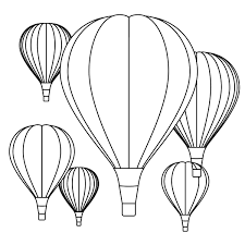 Here is a simple picture to start things off with. Balloons Coloring Pages