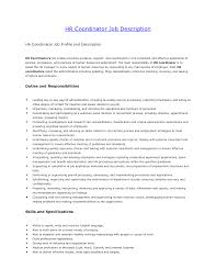 Human Resources Job Description For Resume Hr Coordinator Resume Template For Study Manager Sample Doc Best 1