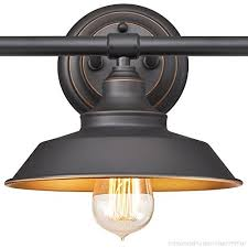 westinghouse 6344900 iron hill three light indoor wall fixture oil rubbed bronze finish with highlights industrial