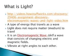 What Type Of Wave Is Light Ppt The Nature Of Light Powerpoint Presentation Free