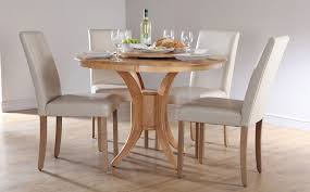 solid round dining table for 4