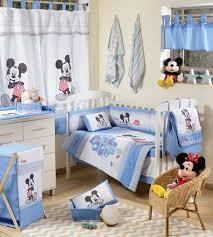 disney baby blue mickey mouse crib bedding set 4pc bedding set 1 set curtain