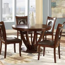furniture kitchen dining room tables miraval cherry brown round dining table by inspire q clic