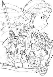 In the legend of zelda: Zelda Breath Of The Wild Sketched Composition By Loboborges Legend Of Zelda Tattoos Breath Of The Wild Coloring Books