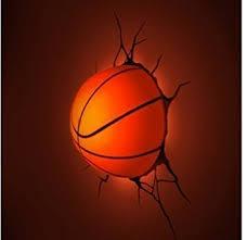 3d wall art kids nightlight basketball on 3d wall art nightlight with amazon 3d wall art kids nightlight basketball childrens