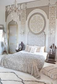 Bedroom: Bohemian Moroccan Bedroom With Unique Lamps - Traditional Bedroom