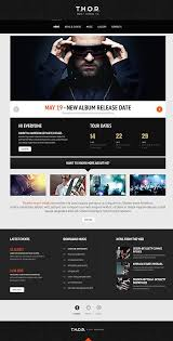 Music Website Templates Fascinating 48 Best Music Images On Pinterest Template Design Websites And