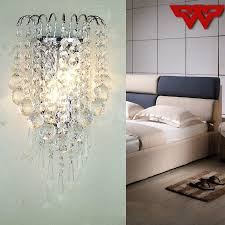 2019 classic crystal chandelier wall light gold crystalline wall sconce lamp led foyer living room bedside glass crystal wall lamp from wanyuanzhao