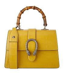 gucci yellow bag. accessories: tote bags gucci small dionysus bamboo top handle bag yellow