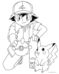coloring pages ash and printable pokemon pikachu coloring pages ash and printable pokemon pikachu