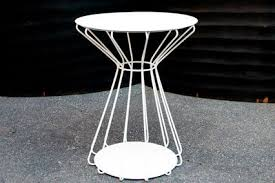 white iron outdoor furniture. Brilliant Outdoor Incredible Outdoor Side Table With Dining Room The Metal Regard To  Decorations 11 Inside White Iron Furniture 1