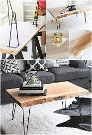 Coffee table designs diy Unusual Diy Wood Slab Coffee Table Diy Crafts 20 Easy Free Plans To Build Diy Coffee Table Diy Crafts