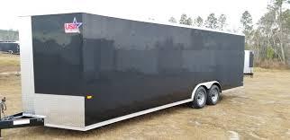 8 5x24 Black 5200 Car Trailer Ad 220 Usa Cargo Trailer