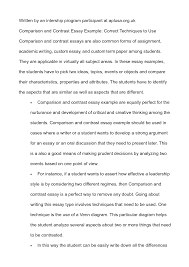 compare contrast example essay contrast essaycompare and contrast  cover letter comparing and contrast essay compare example basicexample comparison and contrast essay extra medium size