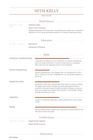 General Labor Resume samples. Work Experience