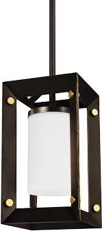 seagull 6140501en 71 auqua modern antique bronze led mini pendant lighting fixture loading zoom