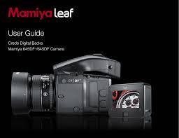 Mamiya 645 Df And Leaf Credo Digital Back Users Guide