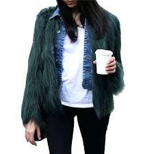 green faux fur jacket fluffy faux fur coat green fur jackets overcoats outerwear women winter coats fake fox olive green faux fur jacket jacques vert faux