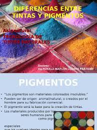 Diferencia Entre Colorante Y Pigmento Duilawyerlosangeles Pigmentos Colorantes L