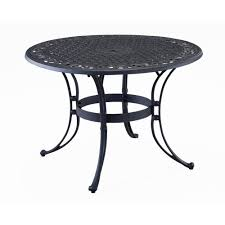 home styles biscayne 42 in black round patio dining table