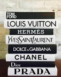 Designer Books Decor 100 DESIGNER BOOKS Chanel Louis Vuitton Dior Prada Decorative 11