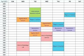 Schedule Maker For College Course Timetable Template Callatishigh Info