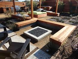 modern patio fire pit. Luxury Square Outdoor Fire Pit Ideas Custom Conctemporary With Crystals And Bench Modern Patio