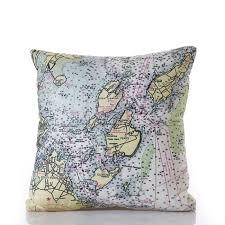 Nautical Chart Pillows Casco Bay Nautical Chart Pillow