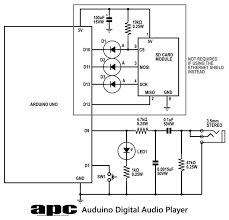 arduino project digital audio player apc voltage level translation
