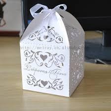wedding souvenir box party favor bags laser cut love vines sweet