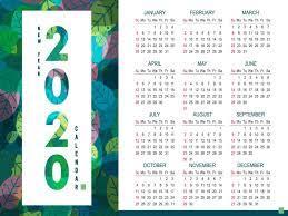 New Year Calendar 2020 Wallpapers ...