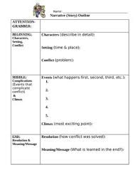 narrative writing outline worksheet student example outline  narrative writing outline worksheet student example outline narrative