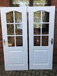 8 x internal doors 2 x glass panel doors all in good condition mk