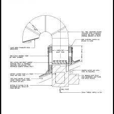 gooseneck exhaust duct cad detail