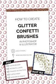 Confetti Brush Photoshop How To Create Glitter Confetti Brushes Nerdygirlcreative