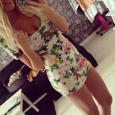 Blonde teen summer dress